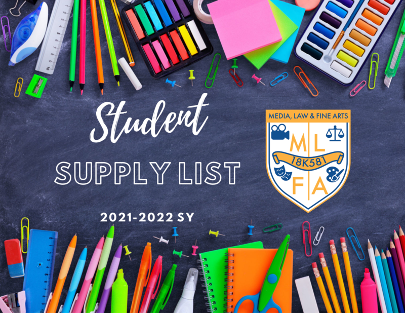 2021-22 Student Supply List Featured Photo