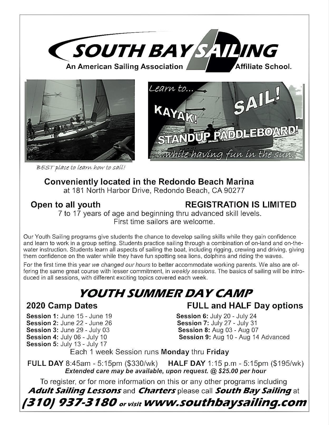 sailing camp ad