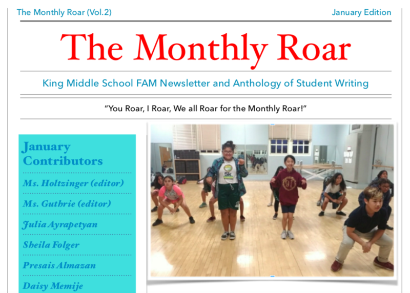 January Monthly Roar Featured Photo