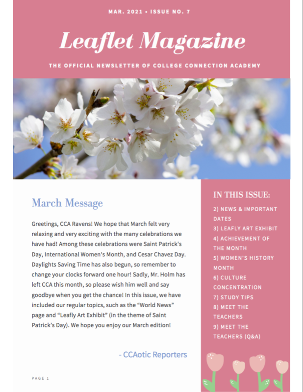 CCA News - March Leaflet Magazine Thumbnail Image