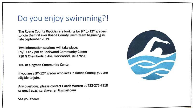 Roane County Riptides Swim Team Details
