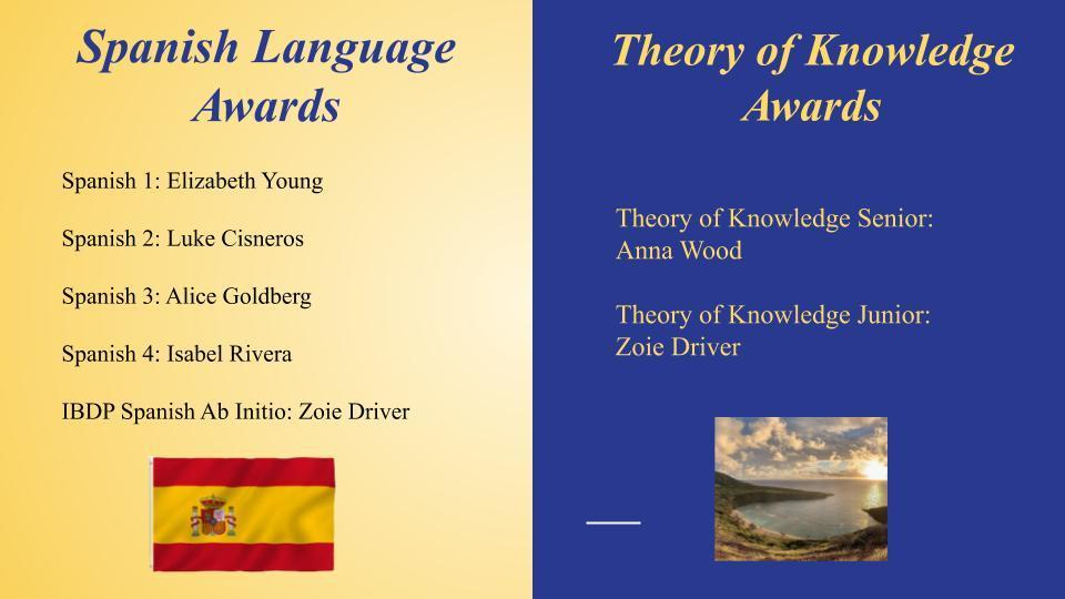Spanish & Theory of Knowledge Awards