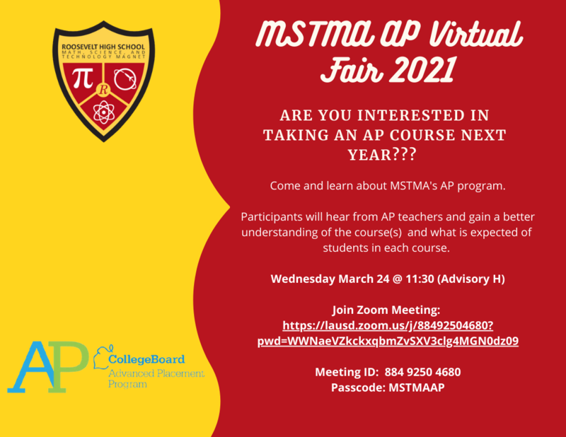 MSTMA AP Fair - Wednesday March 24 @ 11:30 Featured Photo