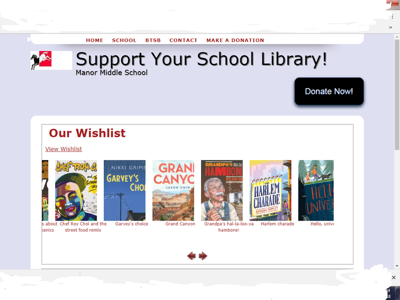 MMS School Library Fundraiser Thumbnail Image