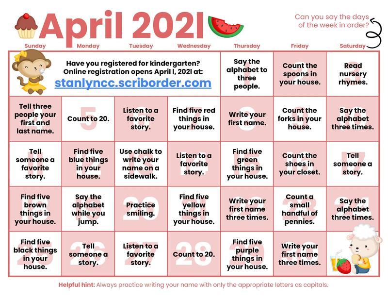 Kindergarten Learning Calendars Featured Photo