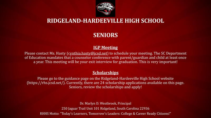 Seniors IGP Meeting and Scholarships Information Featured Photo
