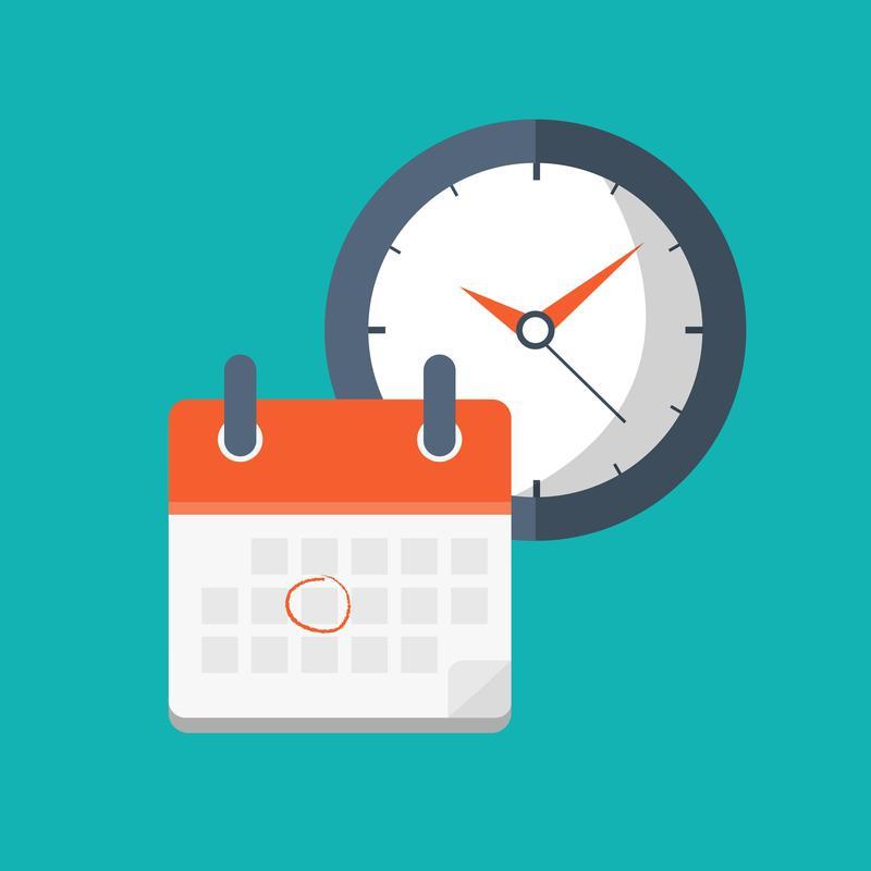 clock with blank calendar