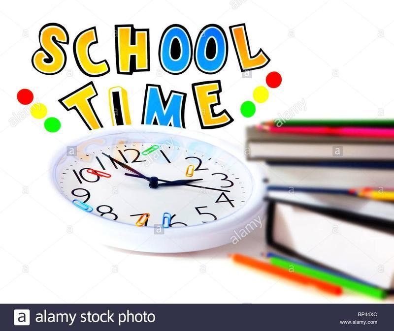 What time does school begin and end each day? ¿A qué hora comienza y termina la escuela cada día? Featured Photo