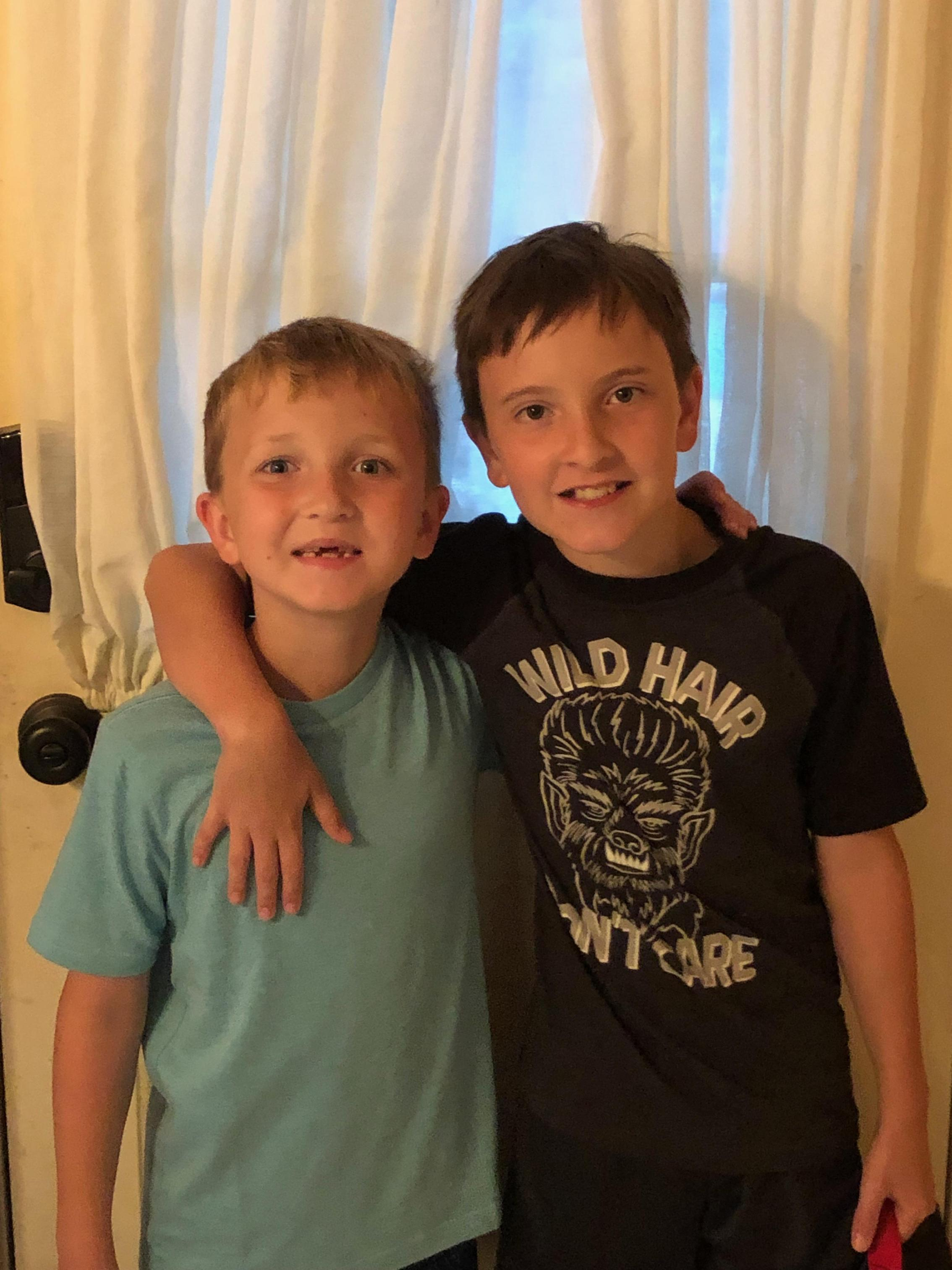 My boys! Kelly & Zach