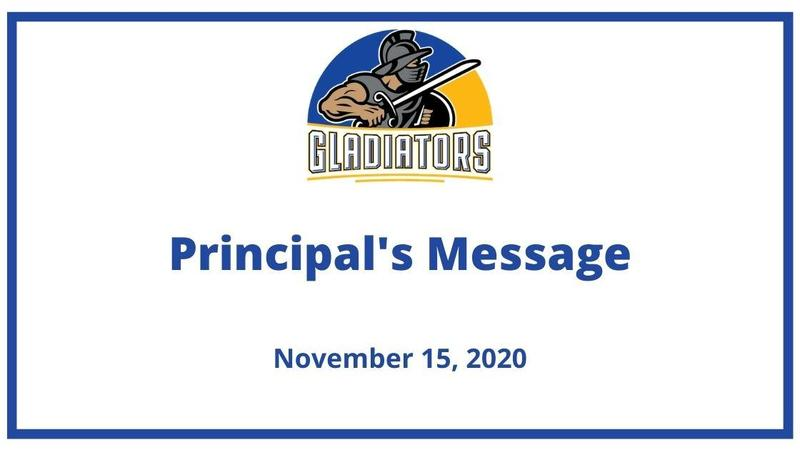 Gahr High School's logo for the Principal's Update.