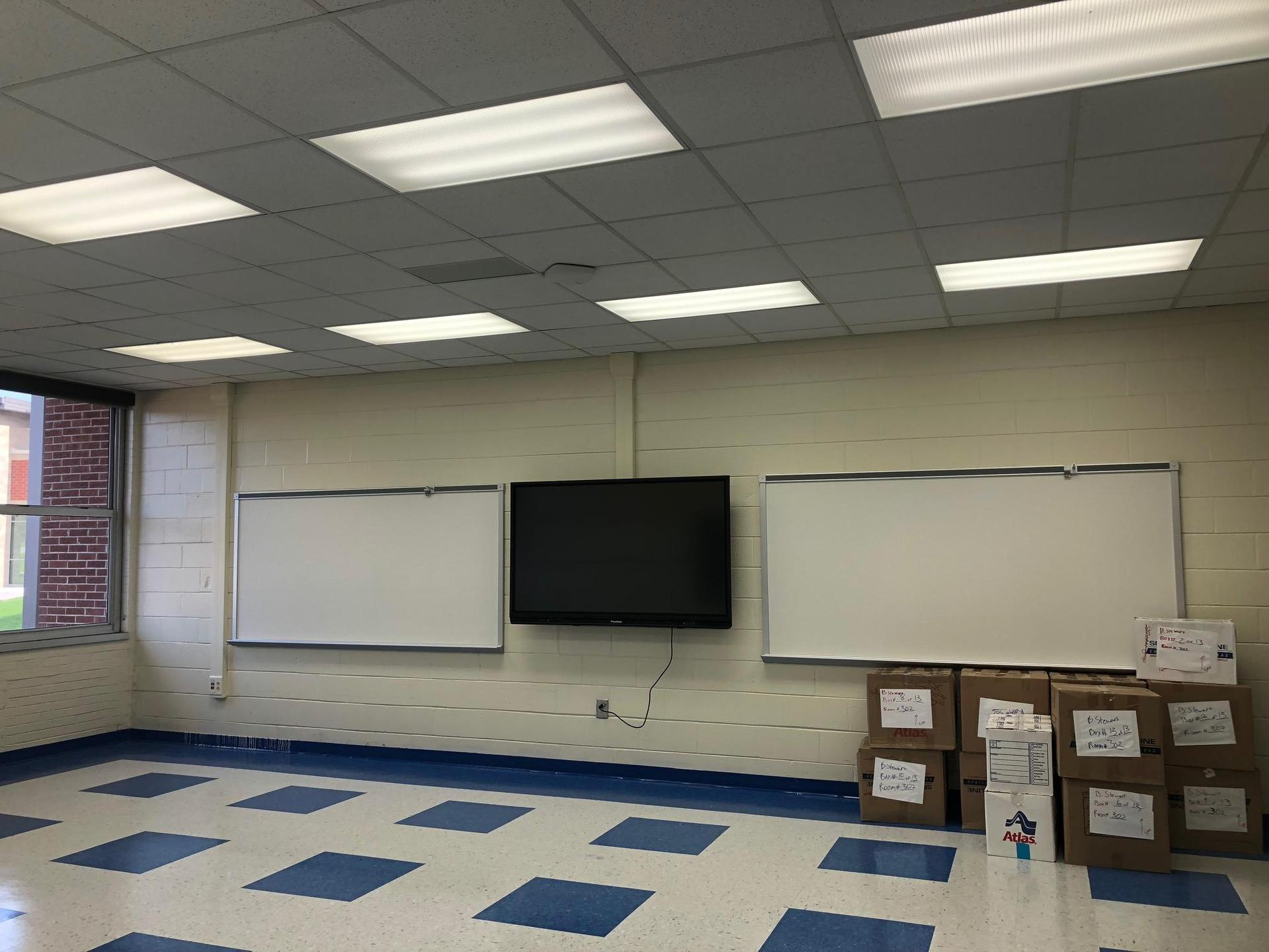 Renovated Classroom in the 300 Wing