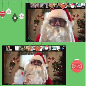 Santa on zoom collage