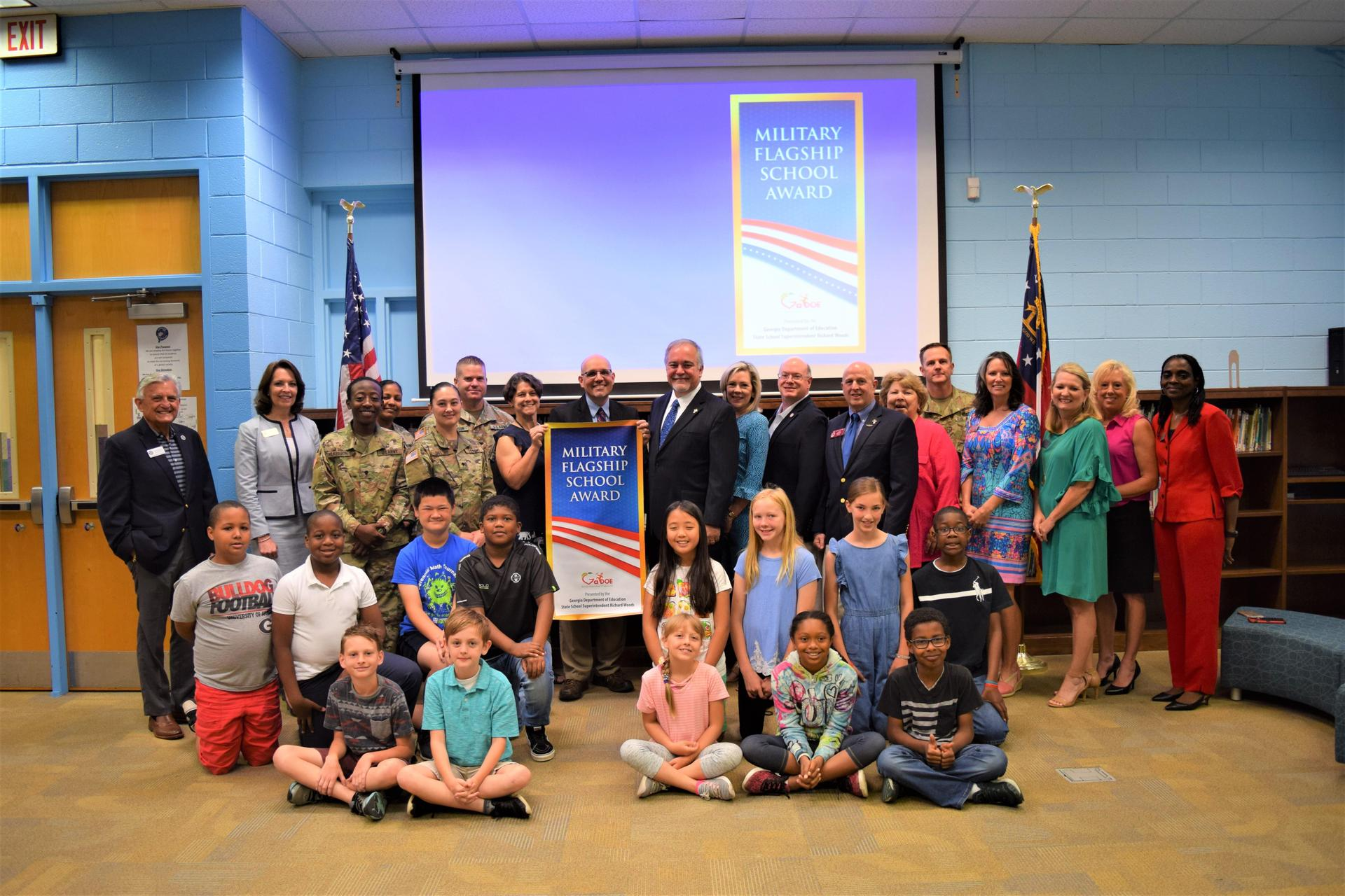 group photo with Superintendent Richard Woods