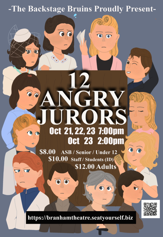 12 people on a poster for the fall play