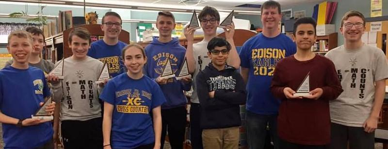 EJHS Mathcounts Team Headed to State Competition Featured Photo
