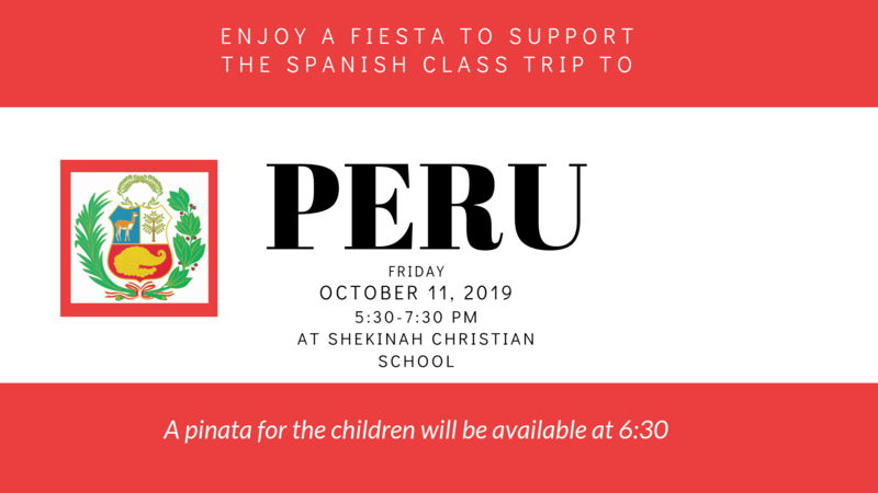 Fiesta Meal - Support the Spanish Class Trip to Peru | October 11 Thumbnail Image