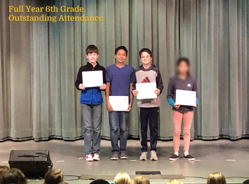 FY 6th Grade Outstanding Attendance