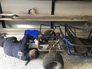 welding students construct