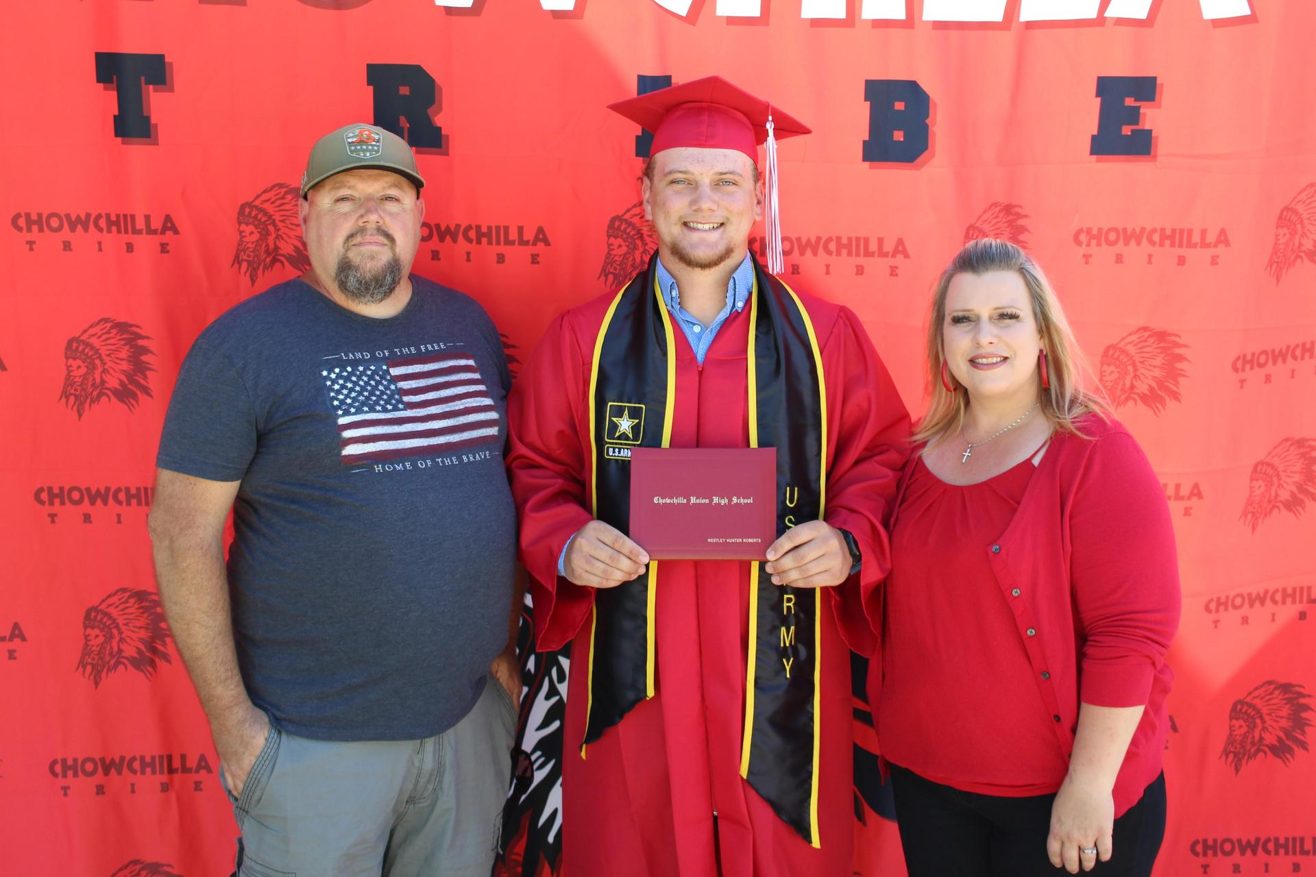 Westley Roberts and family