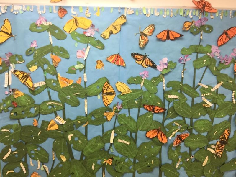 Butterfly Mural -- Artists in the School -- Grade 1 Featured Photo