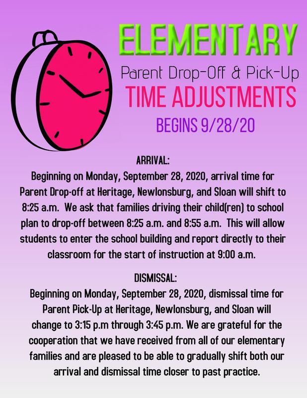 Arrival/Dismissal Changes