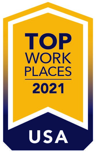 Top Workplaces USA 2021 ribbon banner
