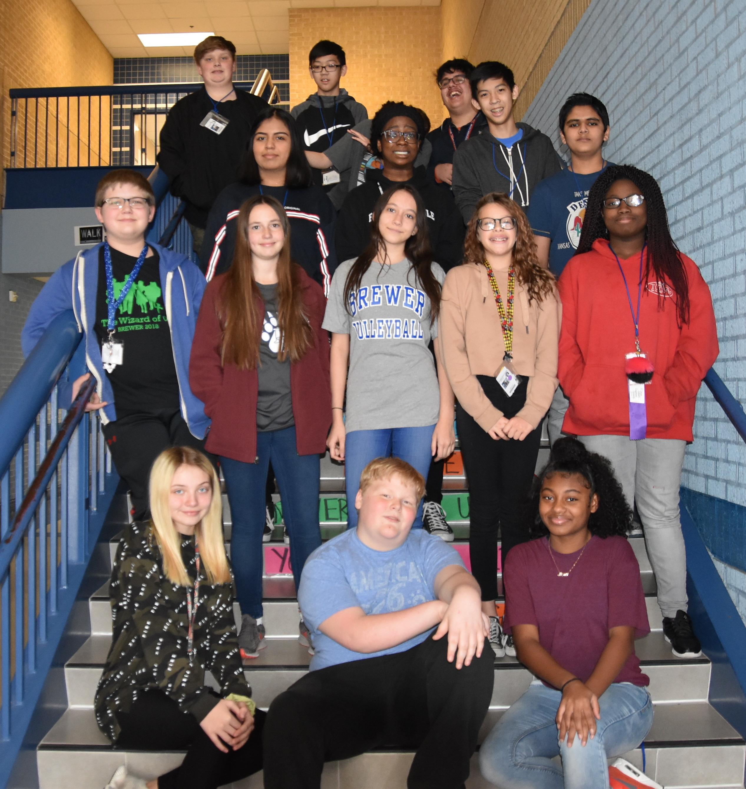 Eighteen Brewer Middle School students recently competed at the UIL Academic Meet.