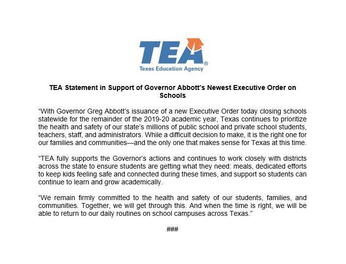 TEA Closure Statement