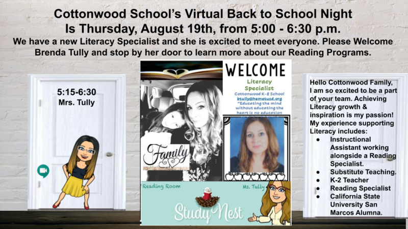 Back to School Meet the Literacy Specialist