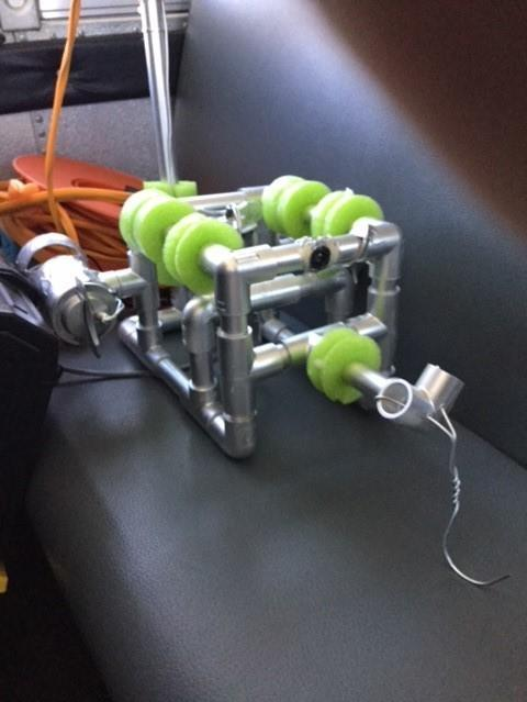 Underwater ROV desgined and constructed by members of the Computer and Robotics Club