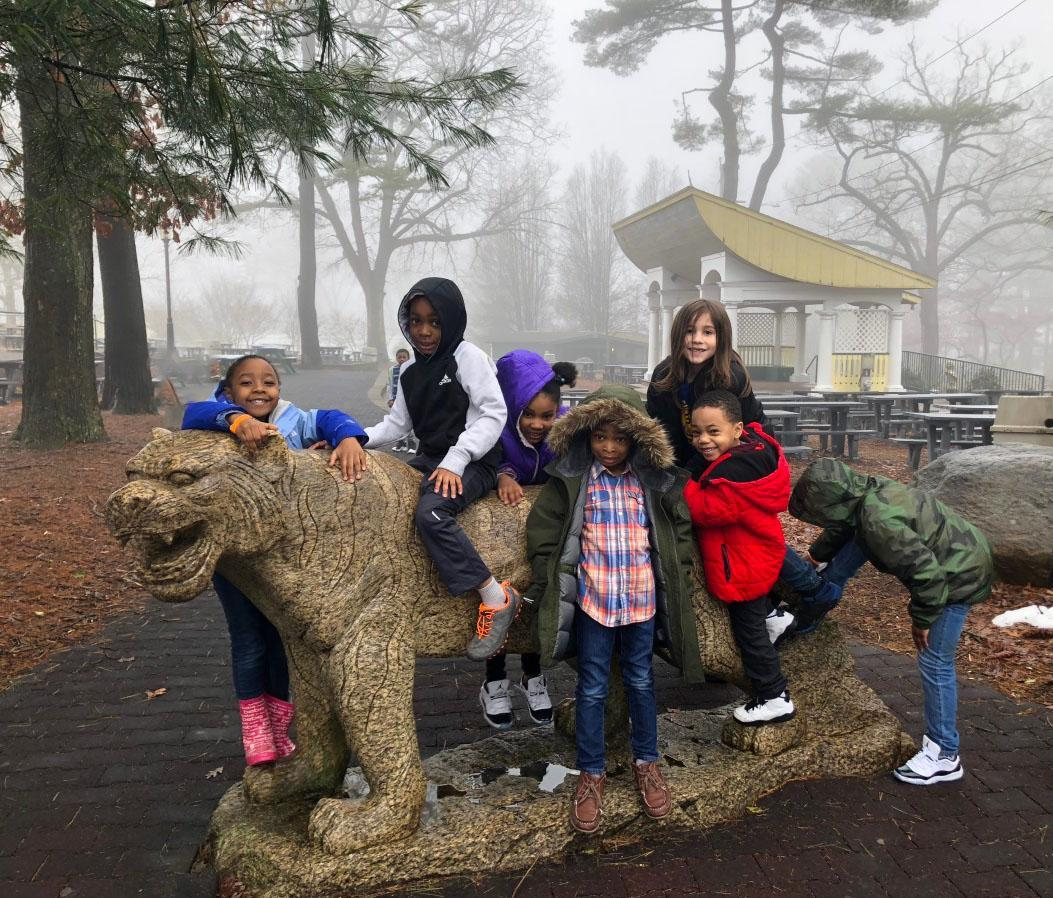 NBFA elementary school students on a field trip to Beardsley Zoo