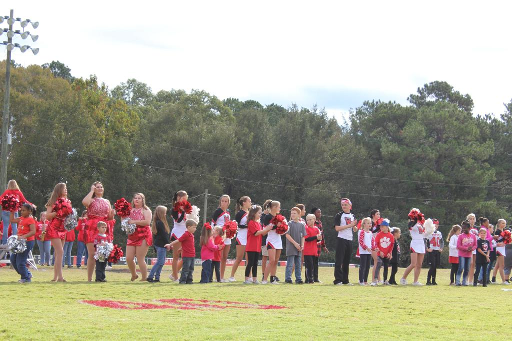 students on field
