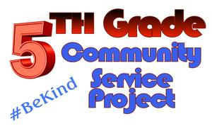 5th Grade Community Service Project