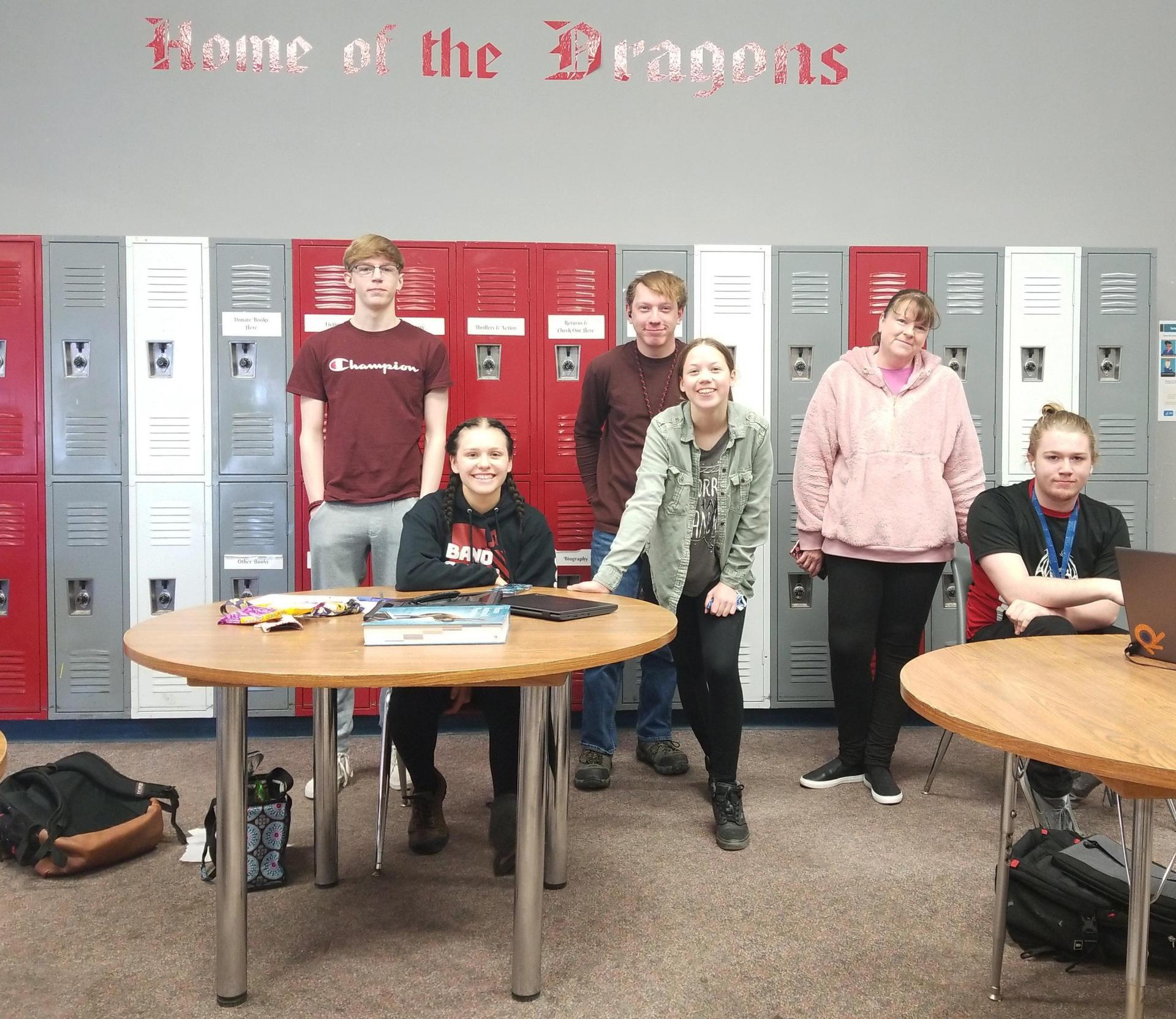 2021 Bingham Academy Science Bowl Team with Faculty Advisor.