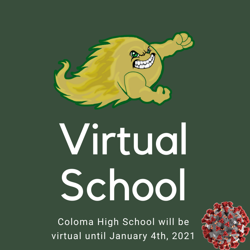 Virtual School Until 1/4/2021