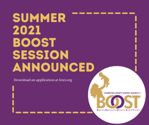 Applications Now Being Accepted for New BOOST Session That Begins in May
