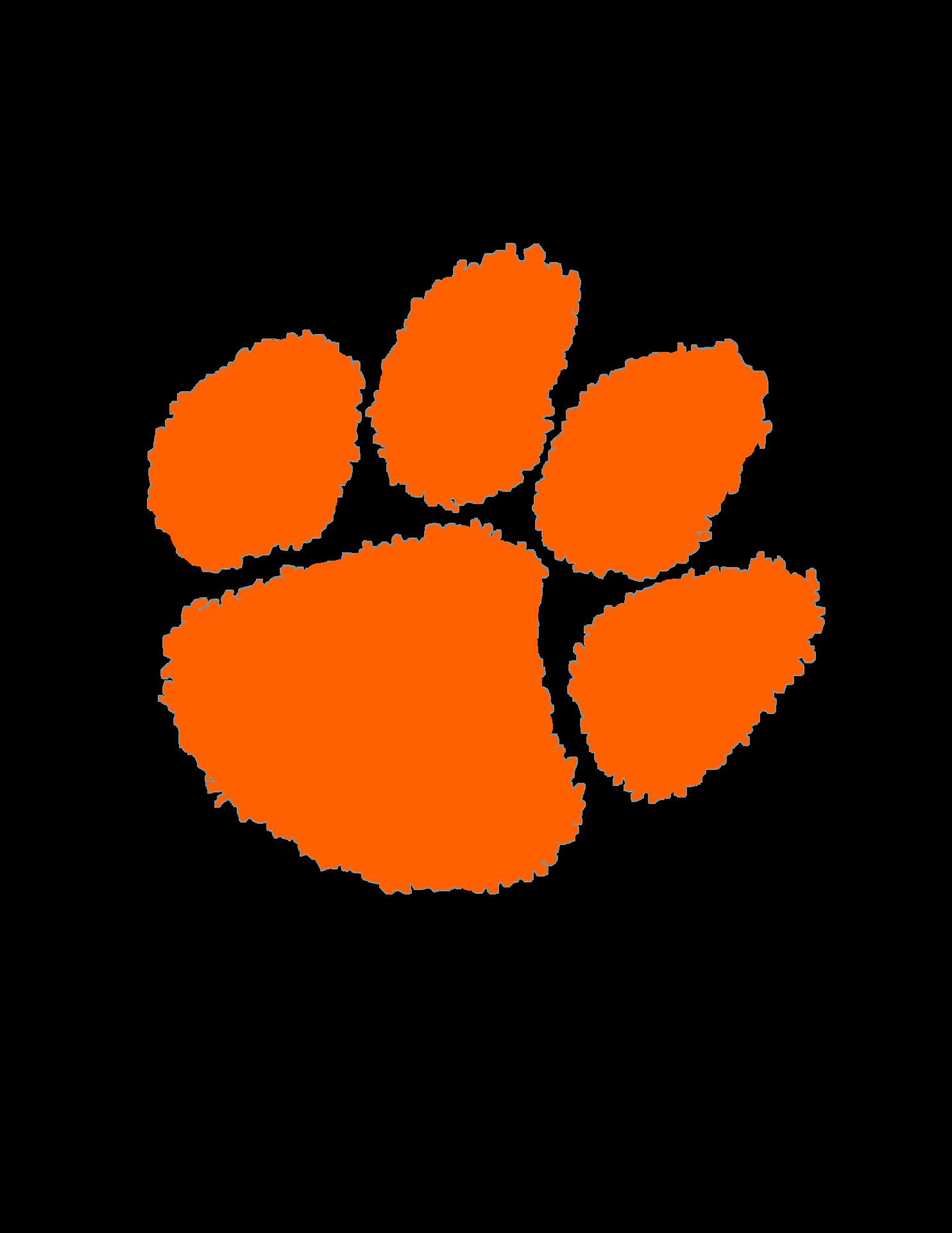 orange cougar paw