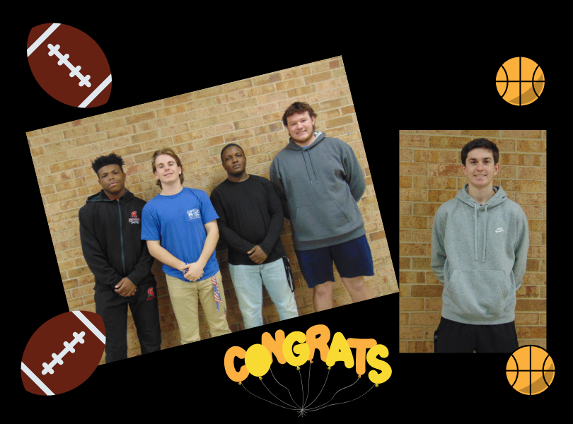 All Athlete Recognitions - Cory Casilac, Cole Stewart, Alex Batts, Nick Hedrick, Jacob Myers
