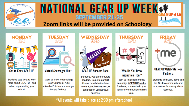 National Gear Up Week Thumbnail Image