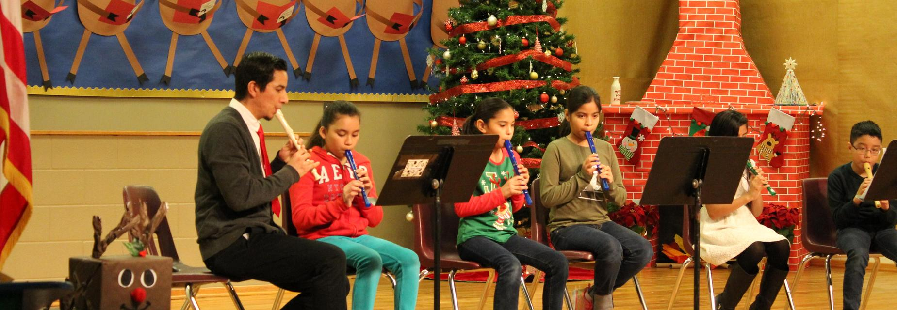 Recorder performance on stage