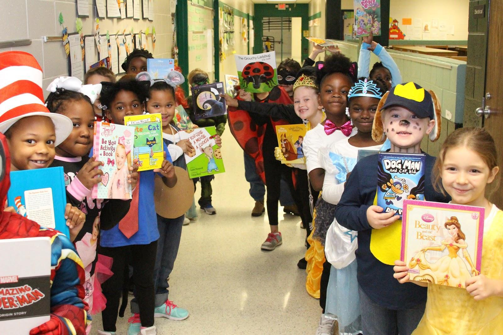 BLPS Students in character at book parade