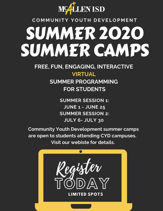 information on summer camps for 2020