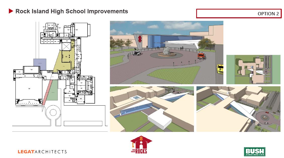 Rock Island High School preliminary design option 2