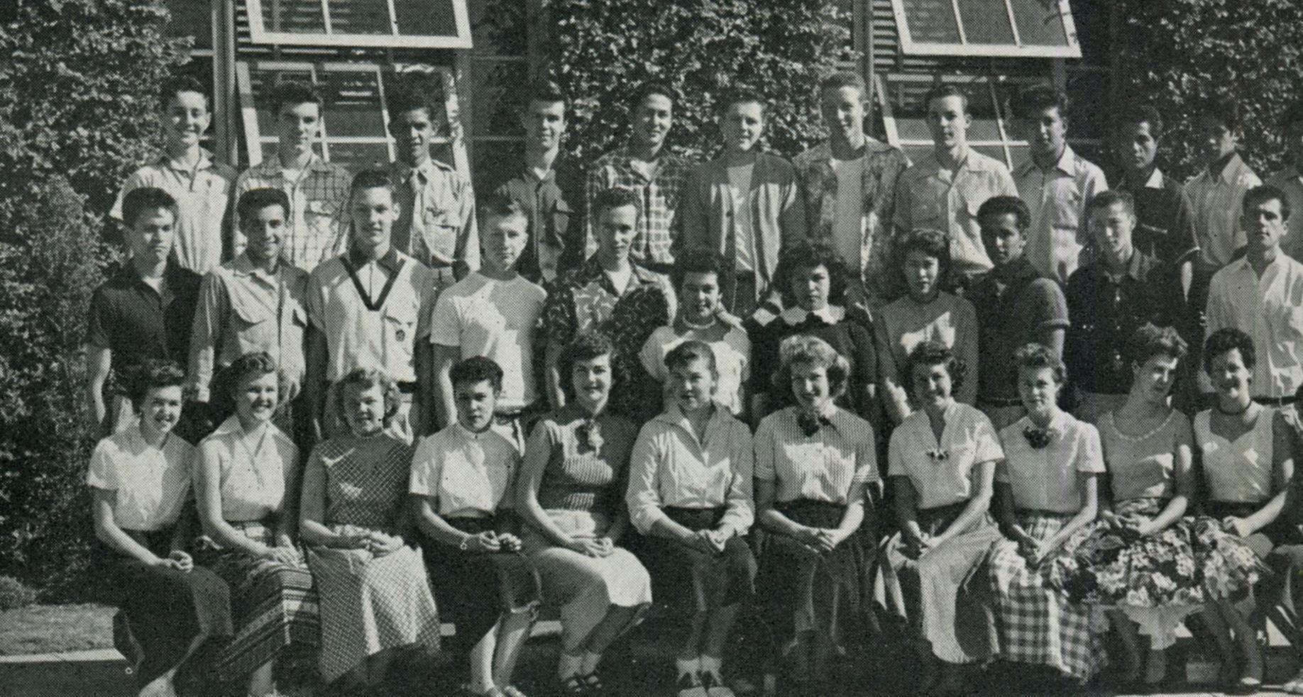 Michael Hiller in class, 1954