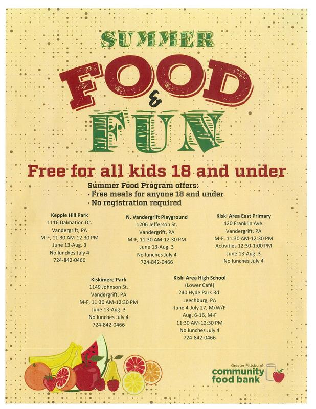 Summer Food & Fun Flyer
