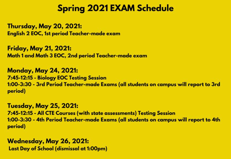 Spring 2021 Exam Schedule Thumbnail Image