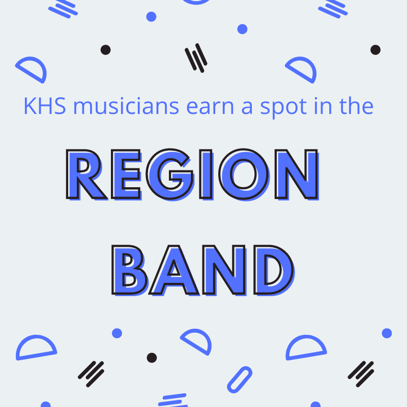 KHS Band Students Earn Positions in Region 2 Band, Advance to Area Featured Photo
