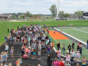 Many members of the community participated in the walk-a-thon.