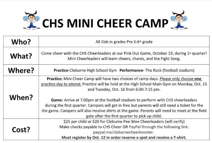 Mini Cheer Flier