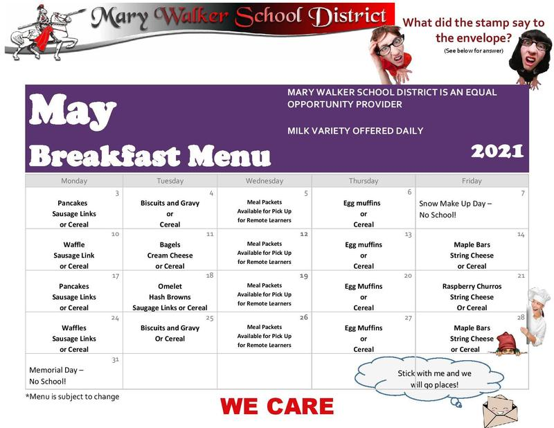Meal Information for the week of 5/10/2021 Featured Photo